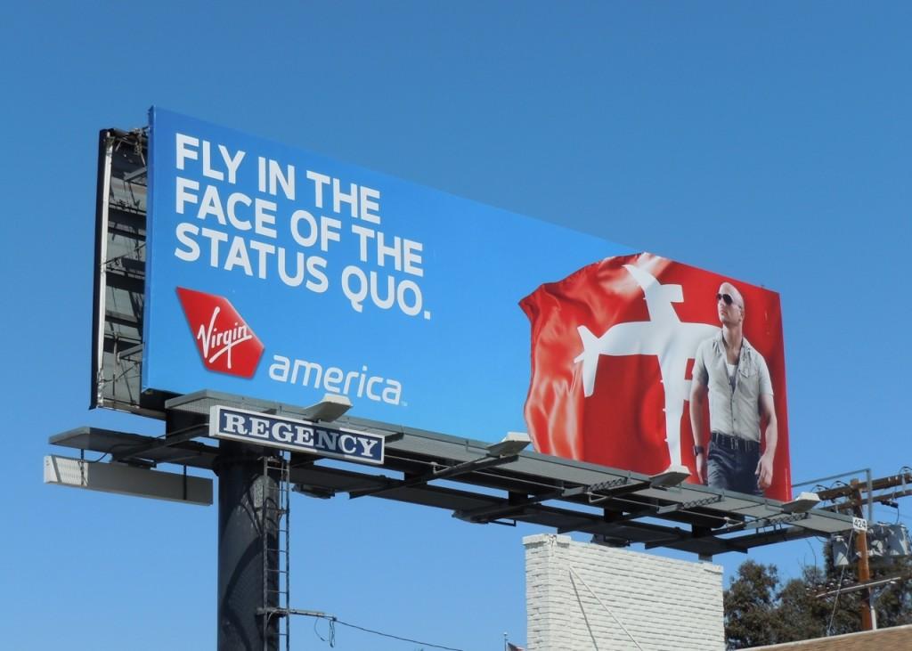 Virgin America Billboard Status Quo