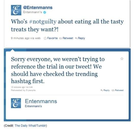 Casey Anthony Entenmanns #NotGuilty Tweet