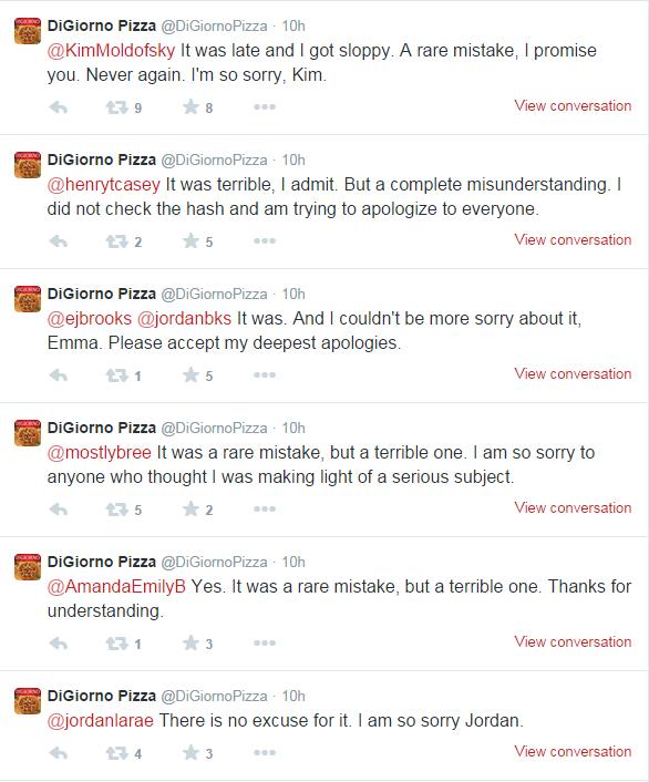 Digiorno Apologizes on Twitter